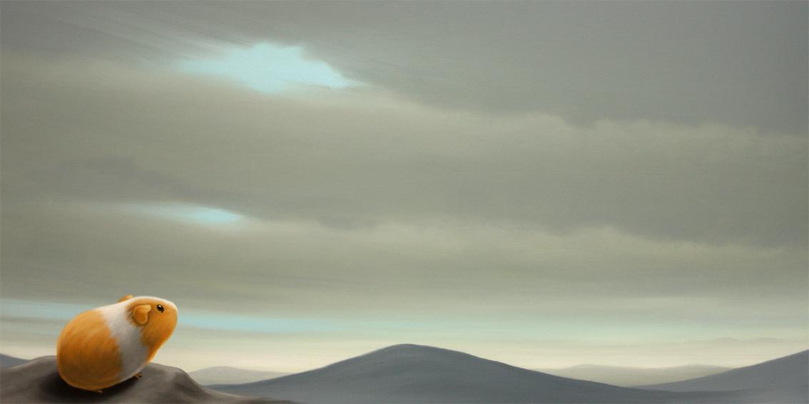 unterwegs, Acryl/Lw, 80 x 40 cm, 330 €